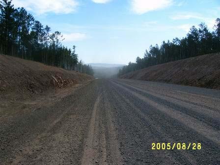 По такой дороге можно спокойно ехать 100-120км .