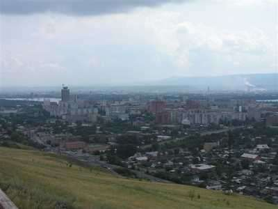 Красноярск со смотровой.
