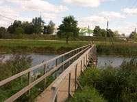 Деревянный мостик через Каменку