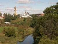 Вид с валов на Ризоположенский монастырь