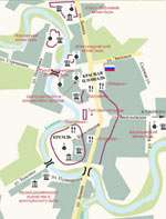 Примерная карта Суздаля