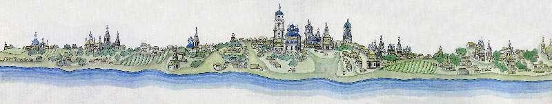 вид города Мурома в конце XVIII века - чертил частный пристав Курбанин