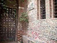Верона. Стены дома Джульеты