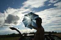 Концептуально: Вовка, зонт, небо