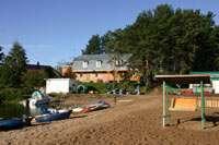 Пляж и наш домик