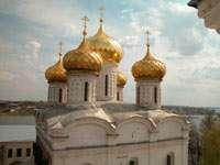 Вид со звонницы на Троицкий собор