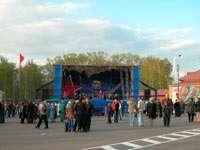 На центральной (Успенской) площади