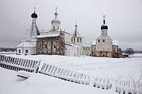 Церковь Мартиниана (1640), Собор Рождества Богородицы (1490) и Церковь Благовещения (1534)
