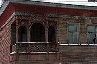 деревянный дом на ул.Железнодорожной около Прилуцкого монастыря