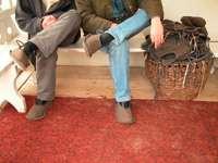Для входа в дом-музей необходима специальная обувь