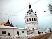 ограда с башней-колокольней Богоявленского монастыря