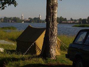 Наша стоянка на берегу Невьянского пруда