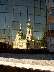 Тюмень. Отражение Спасской церкви