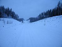Участок трассы Р2: Пудож - граница с Архангельской областью