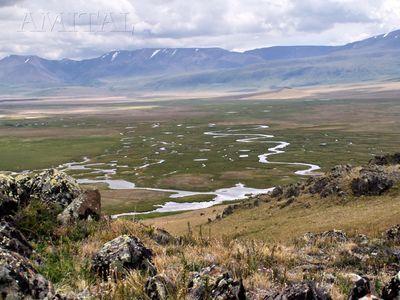 Панорама низинной части плато Укок