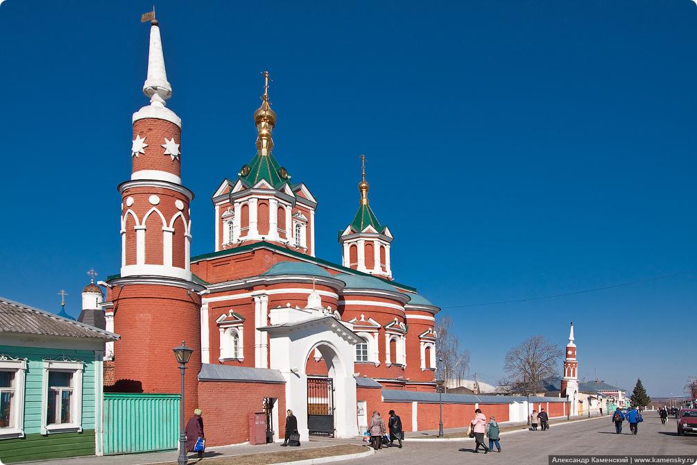 Московская область, город Коломна, весенние фотографии, трамвай Коломны