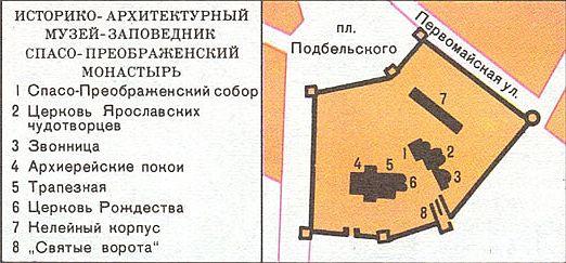 Схема ярославского музея заповедника