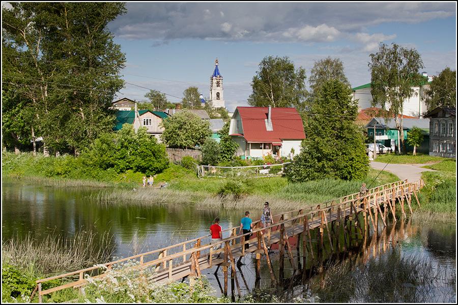 Деревянный мост в западной части Кашина