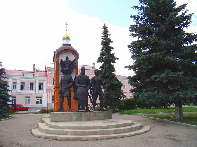 Липецкая область Елец Красная площадь
