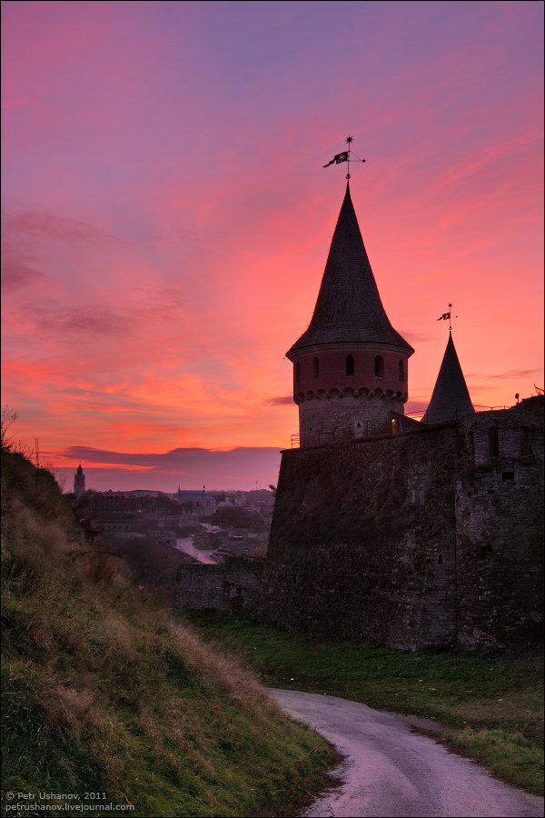 Каменец-Подольский, крепость на рассвете