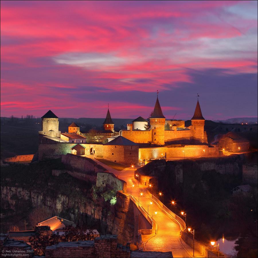 Каменец-Подольский, крепость на закате
