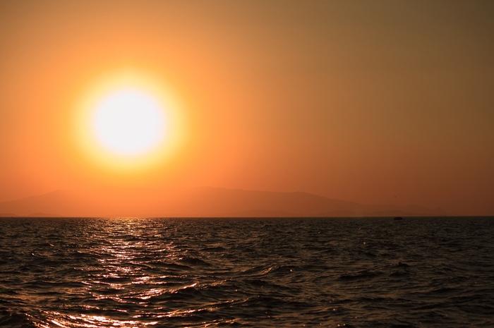 закат над Измирским заливом