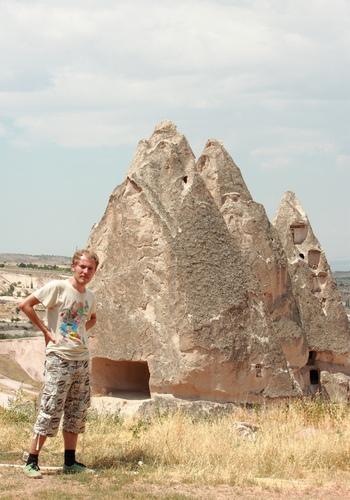 рядом с крепостью Учхисар